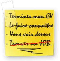 CV papier alain ruel marketing blog cv original post it