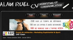 CV marketing original