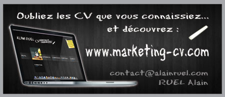 carte visite cv original alain ruel marketing
