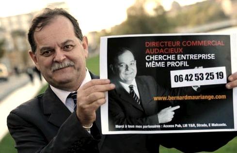 Bernard Mauriange et son CV panneau publicitaire - Qu'est-il devenu ?