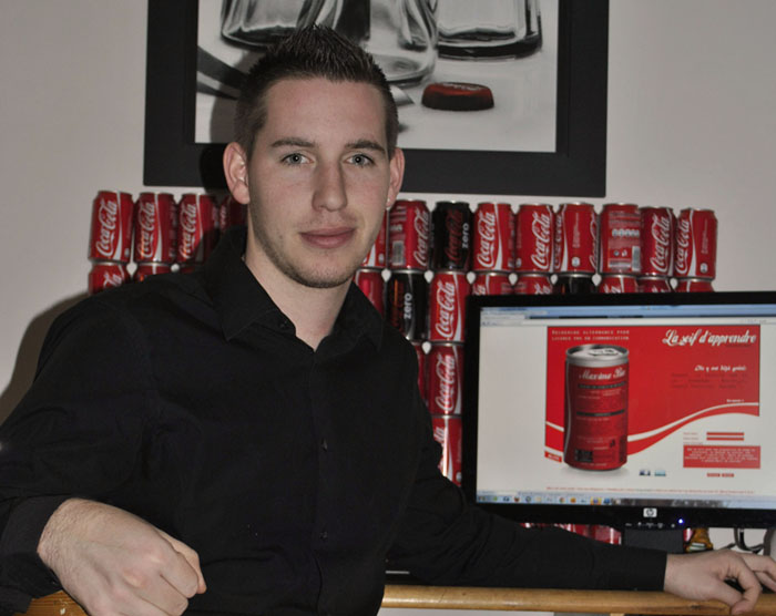 Maxime bee et son CV original Coca Cola