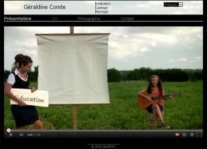 Geraldine Comte CV vidéo - cv chanté original audiovisuel
