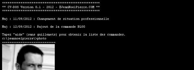 Le Cv Original D Un Developpeur En Ligne De Commande