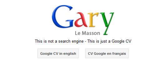 le cv google de gary le masson   surpasser l u2019existant pour se diff u00e9rencier