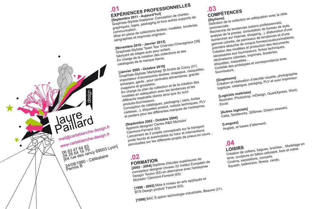 CV laurepaillard carteblanche