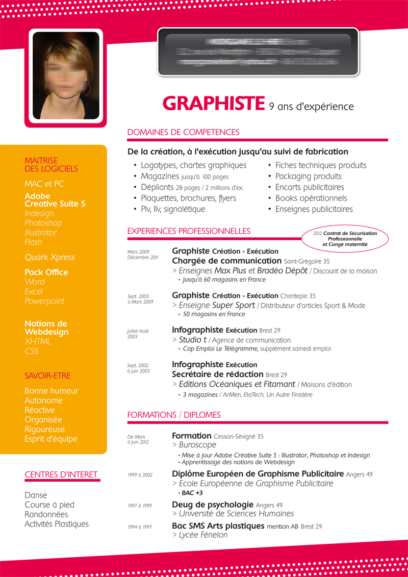 cv graphique simple ua32