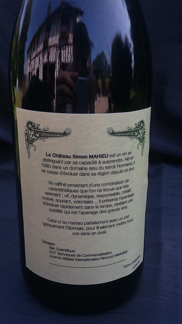 le ch u00e2teau simon mahieu  un  u201ccv bouteille de vin u201d  u00e0 d u00e9couvrir sans mod u00e9ration