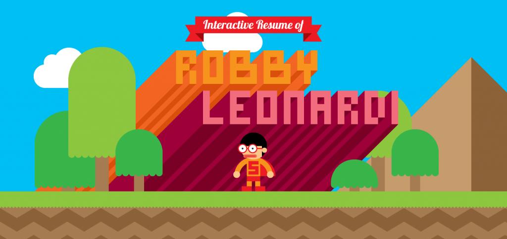 Robby_Leonardi_interactive_resume_videogame_1