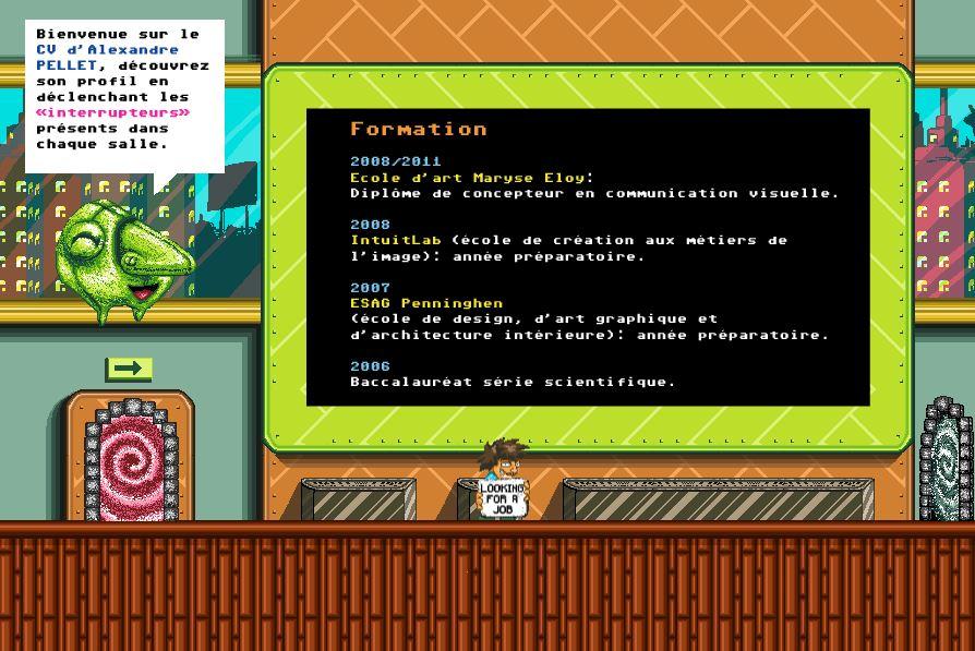 exemple de cv concepteur de niveaux de jeu web