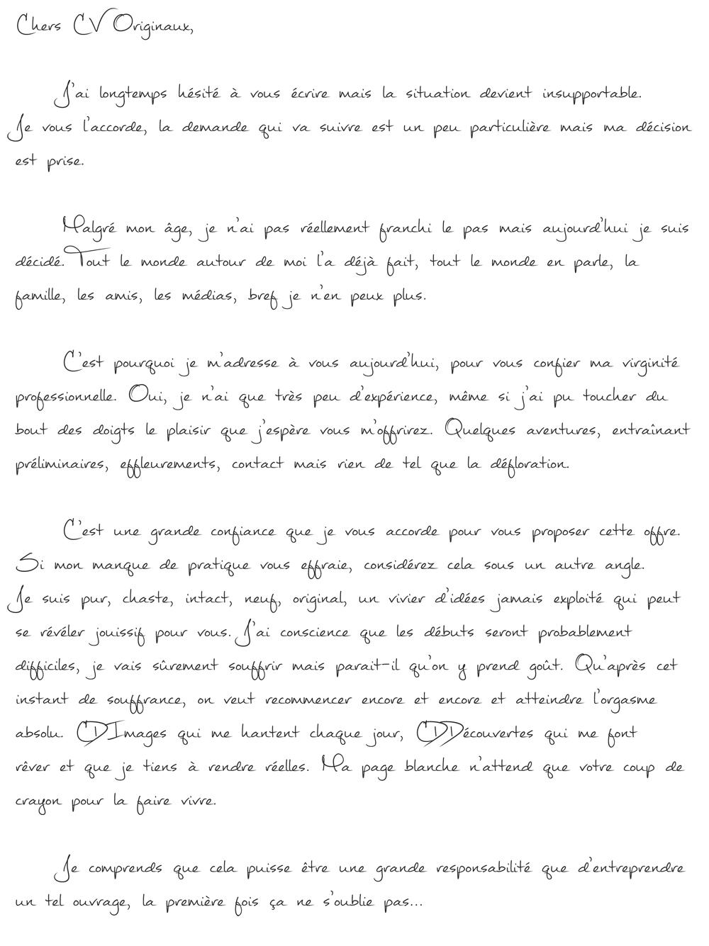 lettre de motivation pour premier emploi