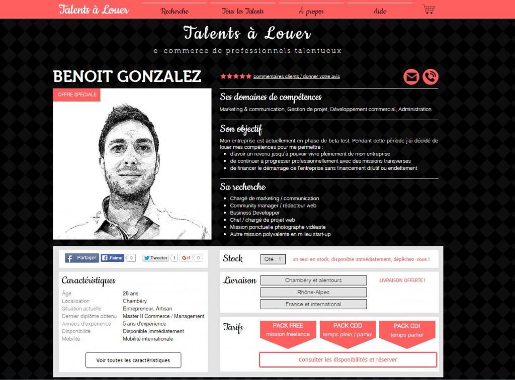 talentsalouer com  y trouverez vous votre talent    web cv
