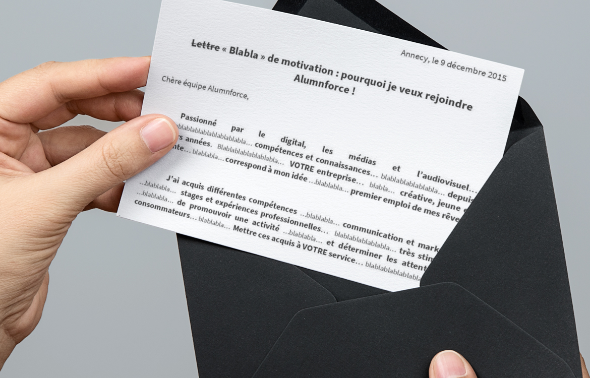 la lettre  u00ab bla bla  u00bb de motivation tr u00e8s second degr u00e9 de julien lui offre un job