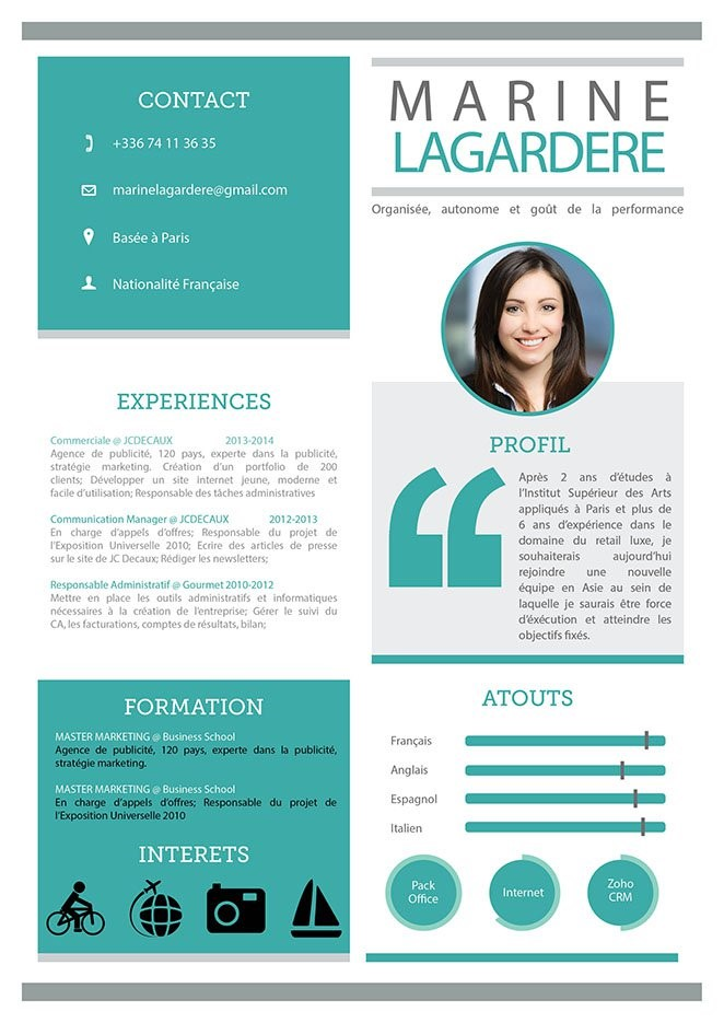 8 conseils pour cr u00e9er le cv id u00e9al   mod u00e8le  informations